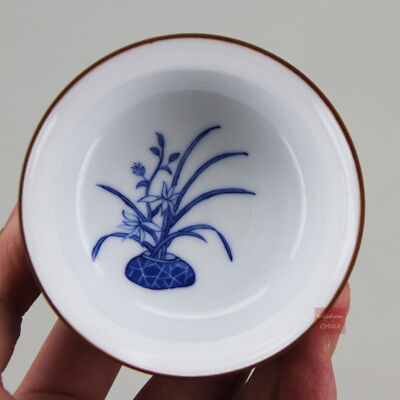 Hand painted Chinese Jingdezhen Blue and White Porcelain Tea Cup 90cc