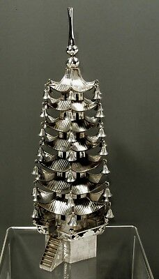Chinese Export Silver Pagoda Statue       c1890 SIGNED      17 INCHES     36 OZ.