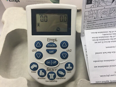 EMPI SELECT Tens unit. PAIN MANAGEMENT DEVICE KIT
