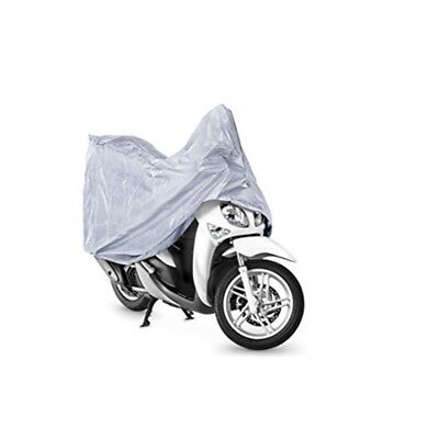 Silver Motorcycle Cover, Medium Size, All Weather Resistant. - Breathable Cover