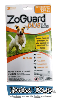 ZoGuard Plus Promika 4-22 Lb Kills Fleas and Ticks For Dogs 3 Month Supply