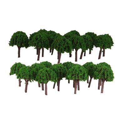 100Pc Scale Green Tree Model Railway Layout Wargame Diorama Scene Accessory