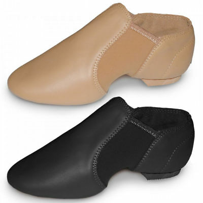 Roch Valley split sole neoprene slip on jazz  dance shoes