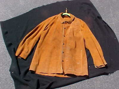 Red Ram leather Welding Jacket, size 36 38  Very Good Cond