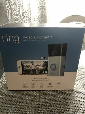 """NEW Ring Video Doorbell 2 """"Newest Version"""" Wi-Fi 1080 HD Video And 2 Way Talk"""
