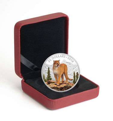 2018 Canada Majestic Wildlife - Courageous Cougar 1 oz Silver Proof $20 SKU52586