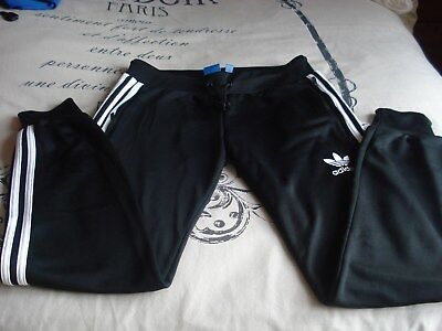 Ladies Adidas Black Sweat Pants - Uk size 10 - Used but Excellant condition