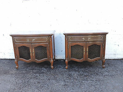 Pair of French Nightstands End Side Table  8271