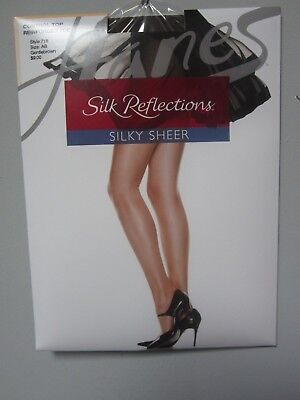 a823dd015c6b5 Hanes Silk Reflections #718 Control Top Reinforced Toe Gentlebrown Pantyhose  AB
