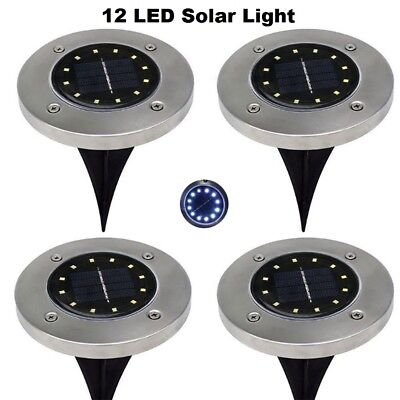 8LED Solar Power Buried Light Under Ground Lamp Path Way Garden Decking IP