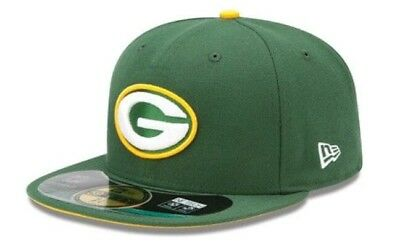 GREEN BAY PACKERS New Era 59Fifty NFL Fitted Hat Cap (Size 7 1 8 ... c6cce89f29b1