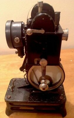 ANTIQUE PATHE BABY 9.5mm CINE MOVIE PROJECTOR & TWO FILMS c1920s