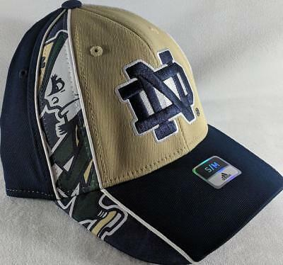 LZ Adidas Adult Fitted S M Notre Dame Fighting Irish Baseball Hat Cap NEW  D46 950528984298