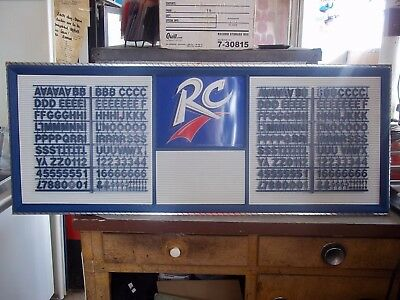 New! 4ft RC Cola Menu Board Sign w letter & number sets!