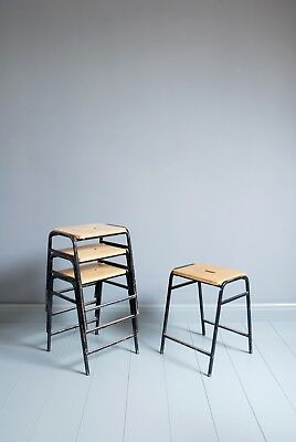 Vintage Remploy Stacking School Lab Stools - Cafe Bar Restaurant - 16 Available