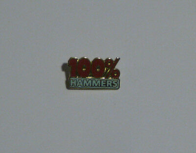 100% Hammers Pin, West Ham United FC Pin, Hammers, London, Irons