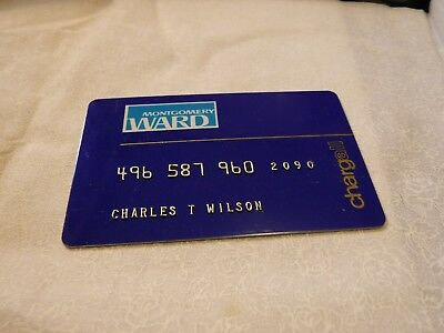 Vintage Montgomery Chargall Charge Card Credit