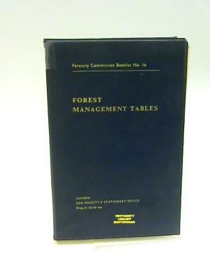 Forest Management Tables - Forestry Commiss Bradley, R.T.; Chris 1966 Book 75774