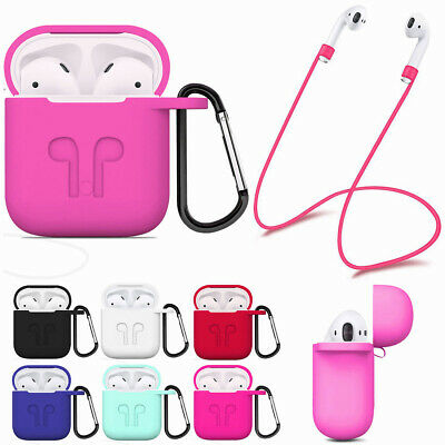 Anti-Lost Soft Silicone Protective Case Cover For Apple Airpods Air Pod Earphone