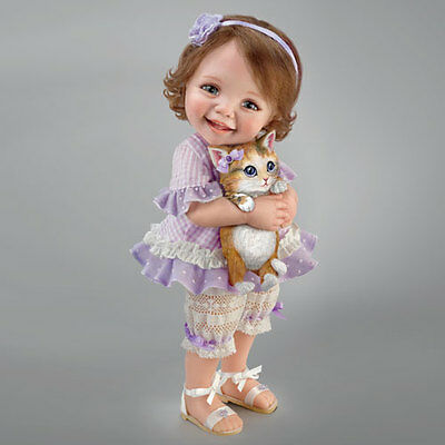 Welcome Home Kitty - Fur-ever Friends Doll Little Girl with Cat Ashton Drake
