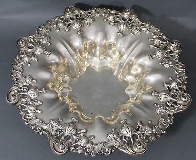Large 1901 Antique Victorian JE Caldwell, Sterling Silver Fruit Bow lLily Design