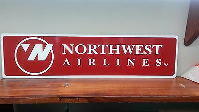 "NORTHWEST airlines Vintage style Aluminum Sign 6"" x 24"""