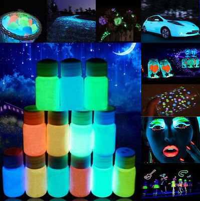 20g Luminous Glow in the Dark Acrylic Paint Bright Pigment Party Decoration DIY