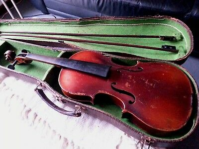 Antique Stainer Violin C1890 With Case And Two Bows
