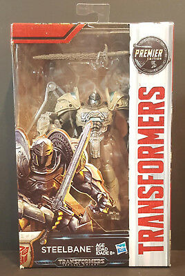 TRANSFORMERS Last Knight DELUXE   ** STEELBANE **   Premier Edition   NIB