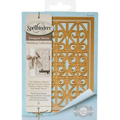 Spellbinders Shapeabilities Dies - Swirl Stripe Panel