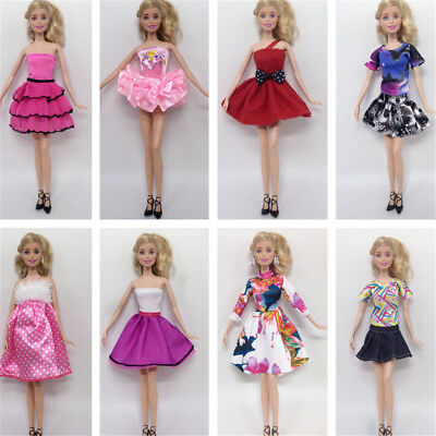 "8Pcs Doll Party Dress Suits for 11"" 30cm Barbie Doll Casual Gown Clothes FT"
