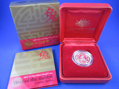 2011 Ram - Year Of Rabbit Lunar $1 - Silver Proof Coin - Complete!!!