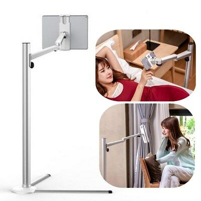 AU Stably Adjustable Alloy Height Floor Bed Holder Stand For iPad/Tablet/Phones