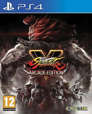 Street Fighter V Arcade Edition PS4 - NEW FACTORY SEALED PAL Sony Playstation 4
