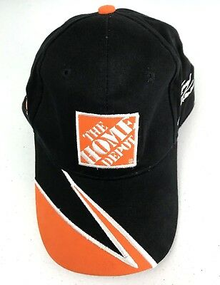new styles 41a94 593f9 Home Depot Joe Gibbs Racing Tony Stewart 20 NASCAR Hat Baseball Cap Black  Orange