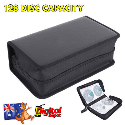 128 Disc CD DVD Portable Storage Case Cover Wallet Hard Box Bag Holder