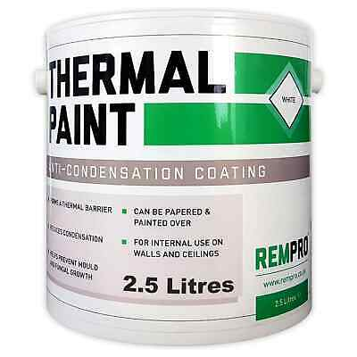 Rempro 2.5Ltr White Anti-Condensation Thermal Wall Paint -Mould & Fungal Barrier