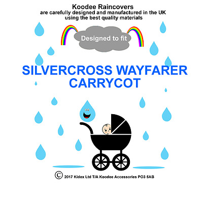 koodee uk Raincover To fit SILVERCROSS WAYFARER CARRYCOT BNIP