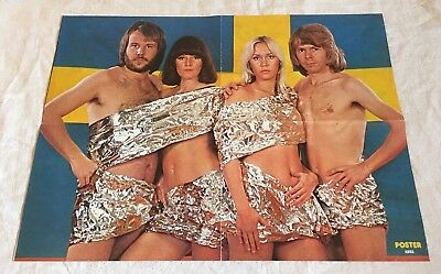 Abba Kiss Cadillac 1975 - From Sweden Swedish Poster Magazine 1970s
