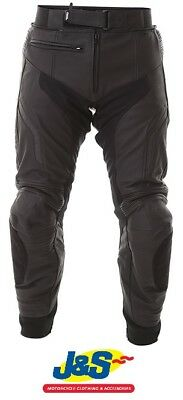 Frank Thomas Stealth Leather Motorcycle Jeans Motorbike Pants Trousers Black J&S