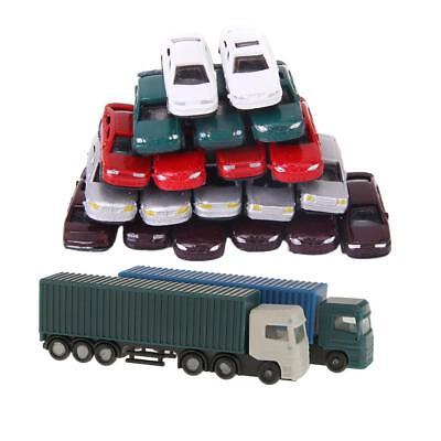 52Pcs Container Truck Construction Vehicle Freight Car Model 1:150 N Scale