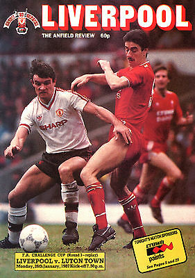 1986/87 Liverpool v Luton Town, FA Cup, PERFECT CONDITION