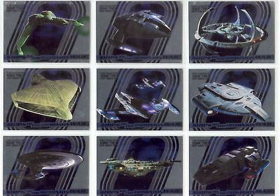 Complete Star Trek Deep Space Nine Complete Ships Of Dominion Chase Set S1-9