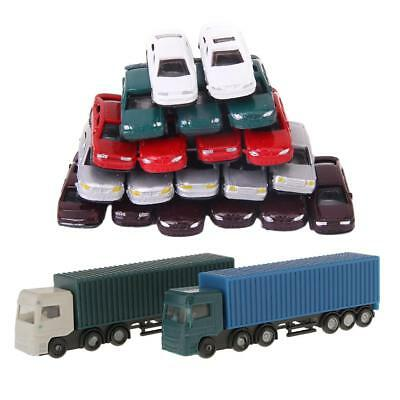 52Pcs 1:150 Scale Container Truck Freight Car Model Toy Kids Christmas Gifts