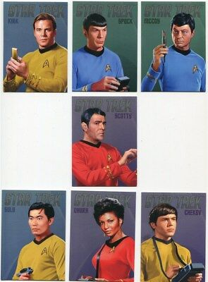Star Trek Portfolio Prints Complete Bridge Crew Portraits Chase Card Set RA1-RA7 Verzamelingen