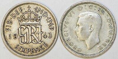 1937 to 1946 George VI Silver Sixpence Your Choice of Date