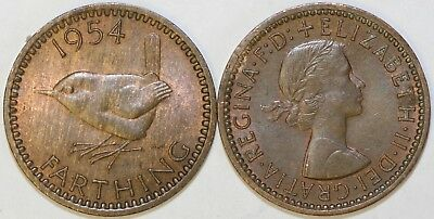 1953 to 1956 Elizabeth II Bronze Farthing Your Choice of Date