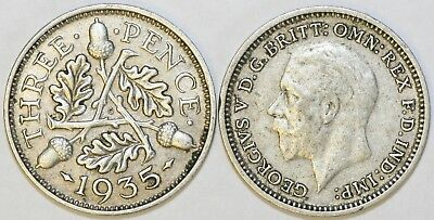 1928 to 1936 George V Silver Threepence 2nd Design Your Choice of Date