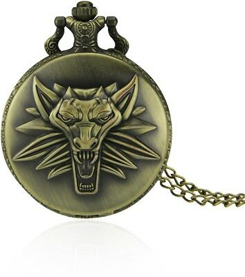 Cool Roaring Lion Pocket Watch Vintage Antique Fob Classic Design Chain Necklace