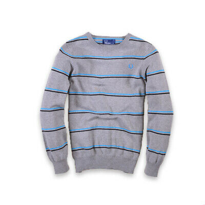 Fred Perry Junge Kinder Pullover Sweater Strick Gr.L (164) Young Grau, 27811